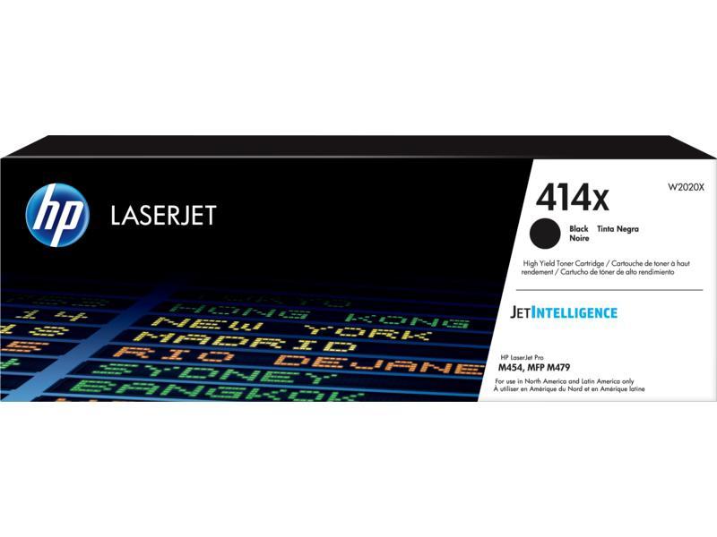 HP 414X High Yield Black Original LaserJet Toner Cartridge (W2020X)